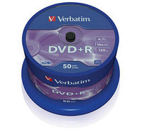 DVD+R SP-050 16X 4.7GB Verbatim Matt Silver (43550)