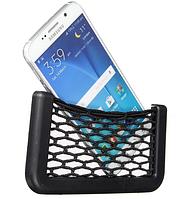 Автомобильный держатель-сетка для телефона на липучке (19* 8 см)