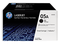 HP 05A Dual Pack Black Print Cartridge for LaserJet P2035/P2055, up to 2300 pages. ;