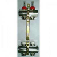 Коллектор для теплого пола Luxor 2 выхода в сборе с расходомерами