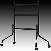 Prestigio Multiboard stand ST08 can accommodate all Screen Sizes from 42-70 Screens Includes roll wheels for easy adjustment of position, and shelf to