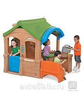 """Детский пластиковый игровой домик """"Домик с грилем"""""""