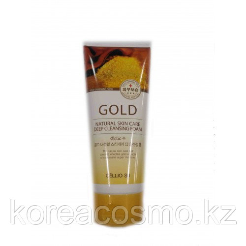 CELLIO SU NATURAL SKIN CARE DEEP CLEANSING FOAM GOLD 150ML - ОЧИЩАЮЩАЯ ПЕНКА С ЗОЛОТОМ