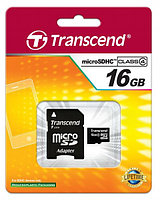 Карта памяти Transcend 16GB (SD adapter)