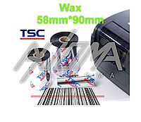 Красящая лента TSC WAX/Resin 58мм x 90м