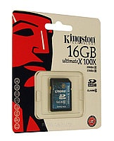 Флэш карта 16 Gb SDHC Class10 Kingston
