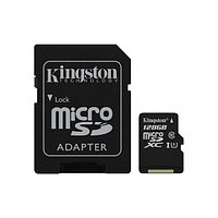 Карта памяти Kingston Class 10 MicroSDXC 128GB + адаптер для SD
