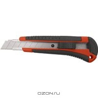 Нож, 18 мм, выдвижное лезвие, металлическая направляющая, винтовой фиксатор лезвие