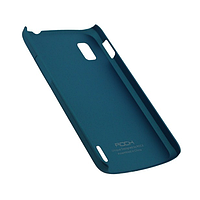 Чехол rock lg google nexus 4 e960, naked shell series, цвет синий (blue)