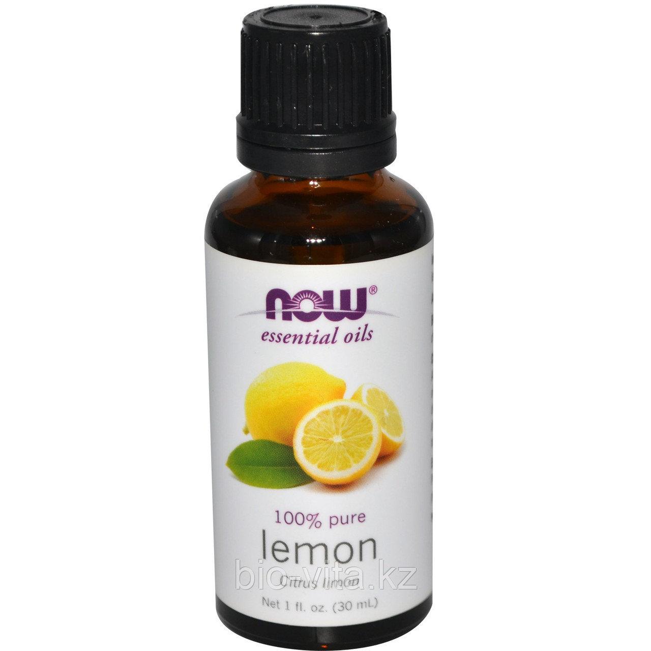 Эфирное масло лимона,  (30 мл).  Now Foods