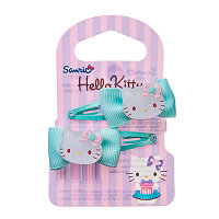 HELLO KITTY Набор заколок клик-клаков 2шт, металл, пластик, полиэстер, 3 цвета