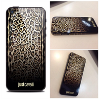 Наклейка qsticker apple iphone 4/4s, just cavalli dark