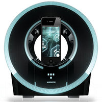 Звуковая док-станция monster tron light disc audio dock apple iphone 4/4s/ipod