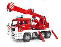 Bruder MAN Fire engine crane truck. КРАН  ПОЖАРНЫЙ