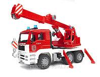 Bruder MAN Fire engine crane truck. КРАН  ПОЖАРНЫЙ