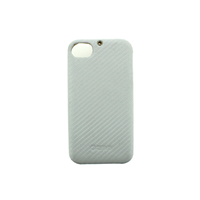 Чехол zenus apple iphone 4/4s, кожа в виде carbon, цвет белый (white)