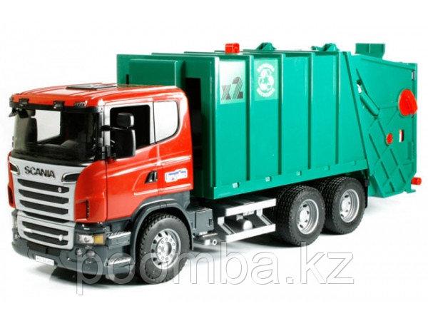Спецтехника Bruder Scania R-Series Мусоровоз зеленый