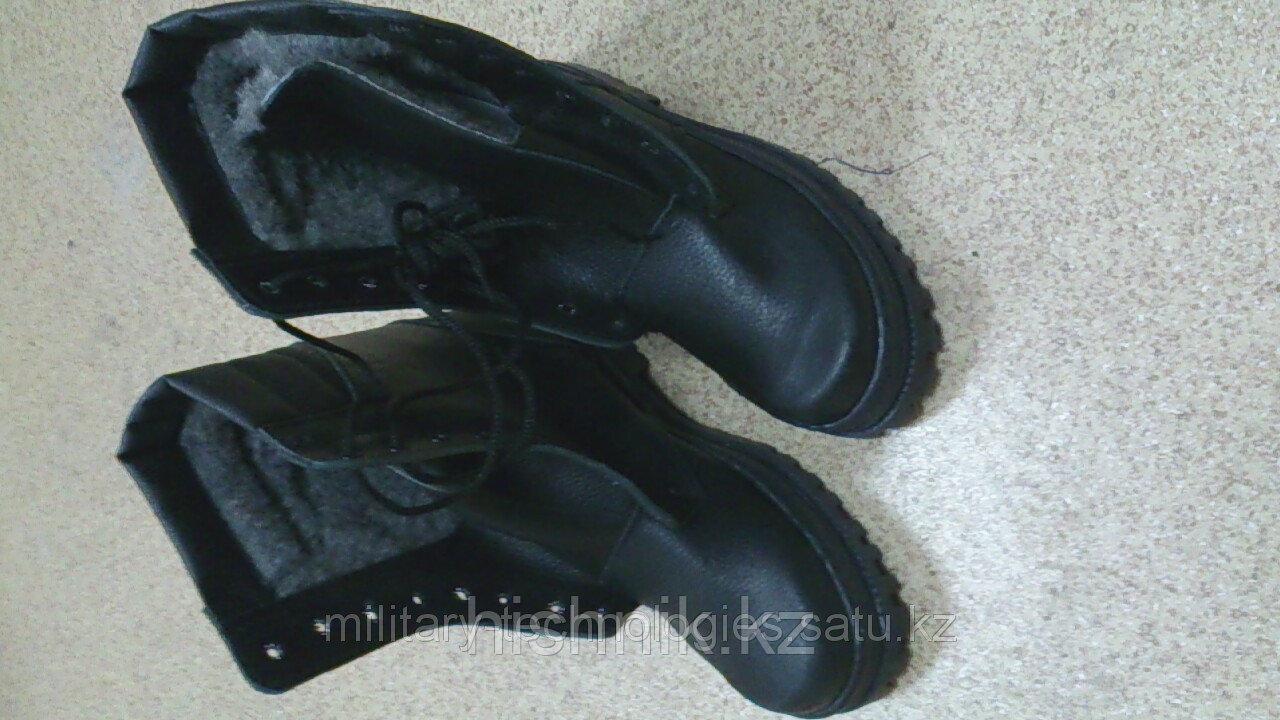 Ботинки с высоким берцем ARMY хром с натуральным мехом