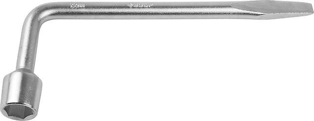 """Ключ баллонный ЗУБР """"МАСТЕР"""" L-образный, с монтажной лопаткой, 21мм"""
