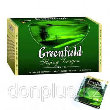 Чай Greenfield Flying Dragon Green Tea, 25 пакетиков