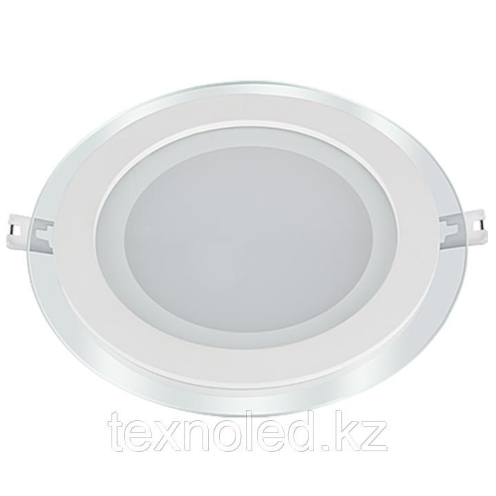 Потолочный светильник круглый 15W со стеклом