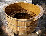 Круглая купель из кедра. Размеры: 1000х1000х1000 мм, фото 3
