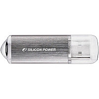 Память SiliconPower USB Flash  32GB USB2.0 Ultima II Silver хром (металл.корпус)