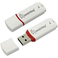 Память Smart Buy USB Flash   4GB Crown белый