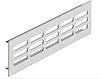 Решетка вентиляционная, алюминий, цвет серебро, 500 х 60 мм