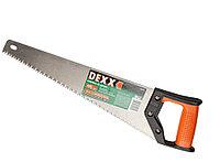 """Ножовка DEXX """"ХОББИ""""по дереву, двухкомп рукоятка, заточенный разведенный универс зуб, объемная закалка, 5TPI,"""