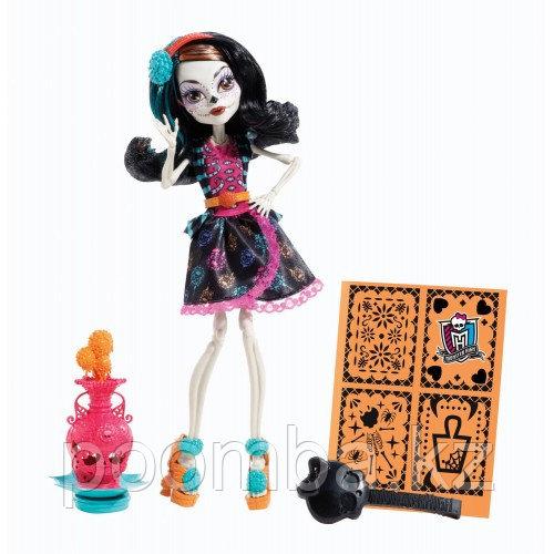 """Art Class Skelita Calaveras Doll. Школа Монстров """"Художественный класс"""" - Скелита Калаверас"""