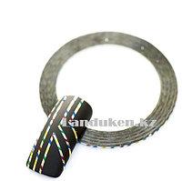 Декоративная самоклеющаяся нить-скотч для дизайна ногтей разноцветная (лента для ногтей)