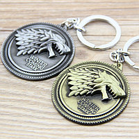 "Брелок из металла ""Игра престолов – Старк"" (Game of Thrones – Stark Metal Keychain)​, фото 1"