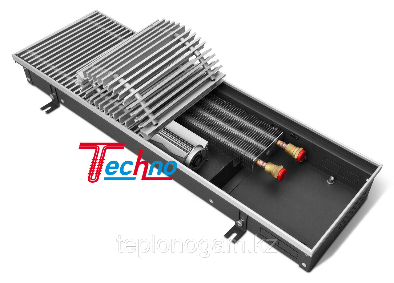 Конвектор внутрипольный (встраиваемый) с принудительной конвекцией - Techo Vent KVZV 250-85-1000