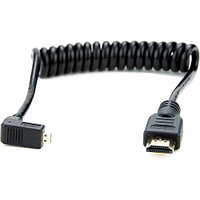 "Кабель Atomos Right-Angle Micro to Full HDMI Coiled Cable (11.8 to 17.7"")"