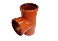 Тройник канализационный 110х110/90 оранжевый