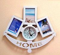 "Фоторамка в форме якоря с часами ""Home"", фото 1"