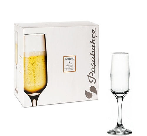 Бокалы для шампанского Pasabahce Isabella 200 мл, 6 шт.