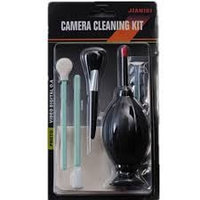 6 in1 Lens Cleaner Cleaning Kit Air Blower Cloth Brush for All DSLR Camera Black