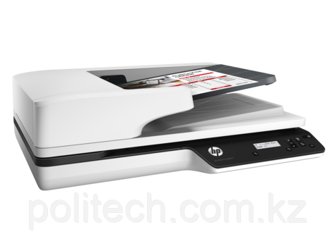 HP  ScanJet Pro 3500 f1 Flatbed Scanner (A4) , 1200 dpi, 24 bit, 25 ppm, ADF, scan duplex, Duty 3000 p/day, US