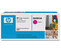 Картридж HP Q6003A Magenta Print Cartridge for Color LaserJet 1600/2600n/2605, up to 2000 pages. ;