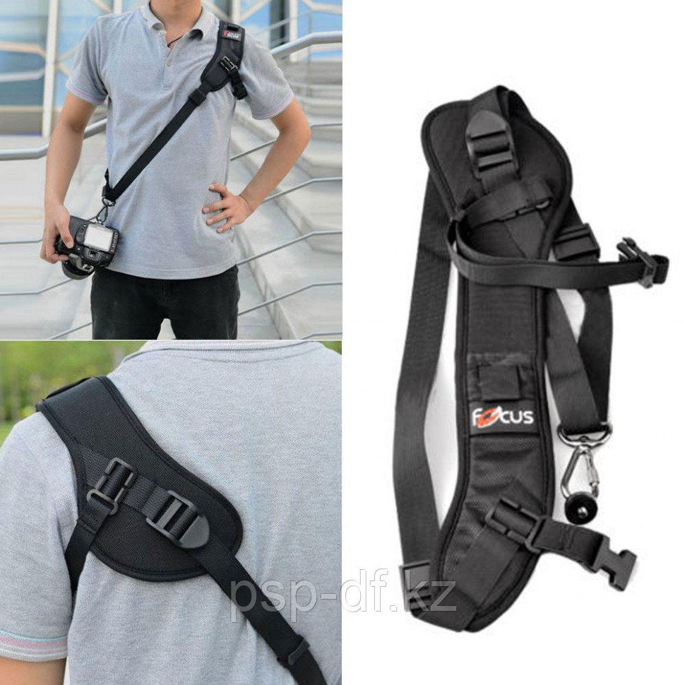 Плечевой ремень  Quick Rapid Camera Single Shoulder Sling Black Belt Strap F1 for DSLR Camera