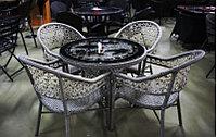 Комплект мебели из искусственного ротанга (стол и стулья)