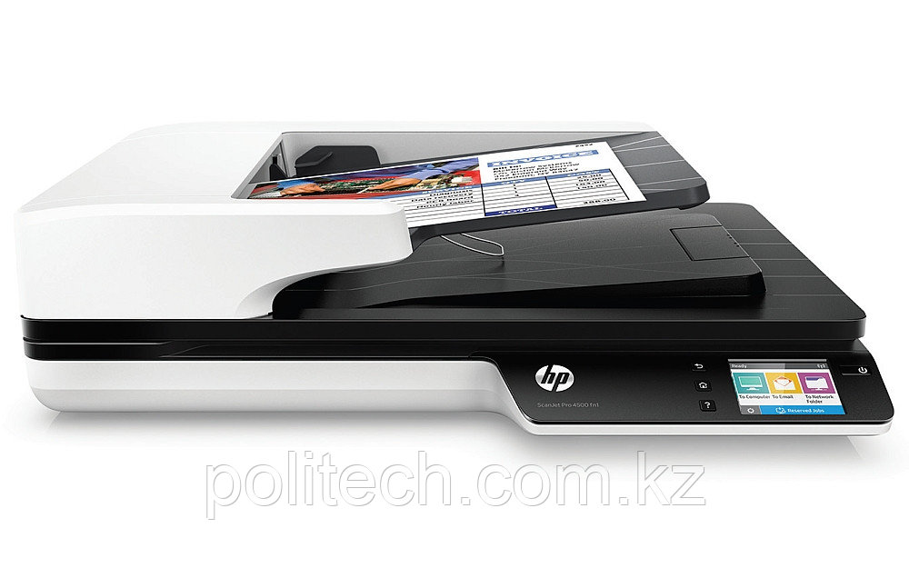 HP ScanJet Pro 4500 fn1 Network Scanner (A4) , 1200 dpi, 24 bit, 30 ppm, ADF, scan duplex, Duty 4000 p/day, US