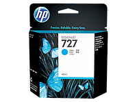 HP Cyan Ink Cartridge №727 for DesignJet T1500/T2500/T920, 40 ml. ;