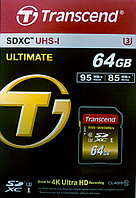 Transcend TS64GSDU3X ULTIMATE карта памяти 4k
