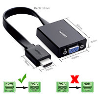 Конвертер HDMI на VGA Adapter UGREEN, фото 1