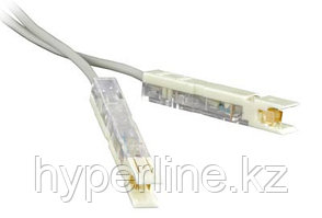 Hyperline PC-110-110-1P-CX-1M-LSZH-GY Патч-корд 110 тип-110 тип, 1 пара, LSZH, 1 м, серый