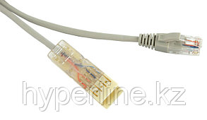 Hyperline PC-110-RJ45-2P-CX-1M-GY Патч-корд 110 тип-RJ45, 2 пары, Ethernet, 1 м, серый