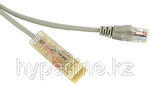 Hyperline PC-110-RJ45-2P-CX-1M-LSZH-GY Патч-корд 110 тип-RJ45, 2 пары, Ethernet, LSZH, 1 м, серый